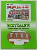Metcalfe PO272 Low Relief Red Brick Terraced Shop Fronts